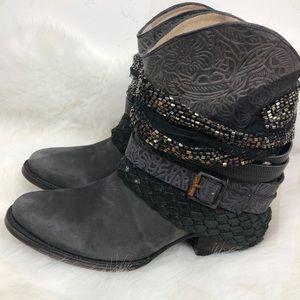 Freebird Mezcal Wrap Around Leather Boho Bootie